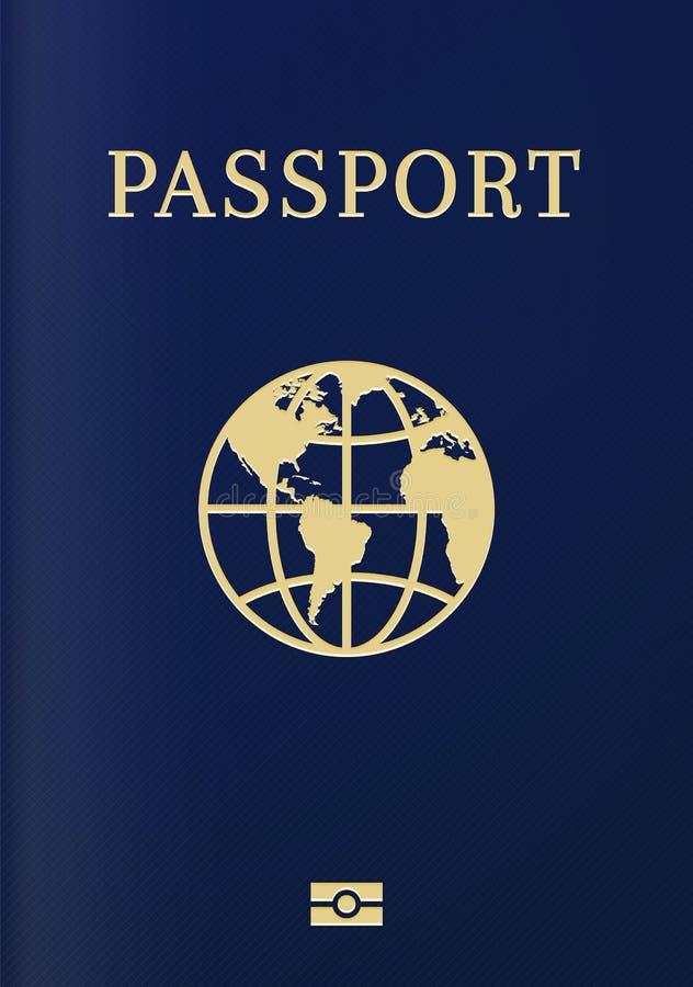 国际生物统计的护照封页 库存例证