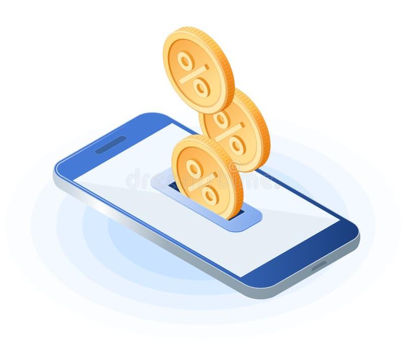 回到智能手机的现金 免版税图库摄影