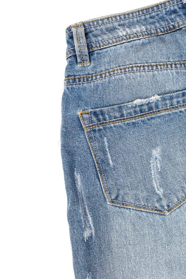 回到蓝色牛仔裤 库存照片