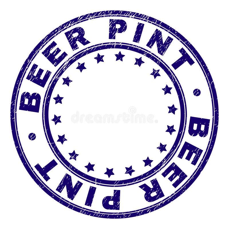 围绕邮票封印的被抓的织地不很细啤酒品脱 向量例证