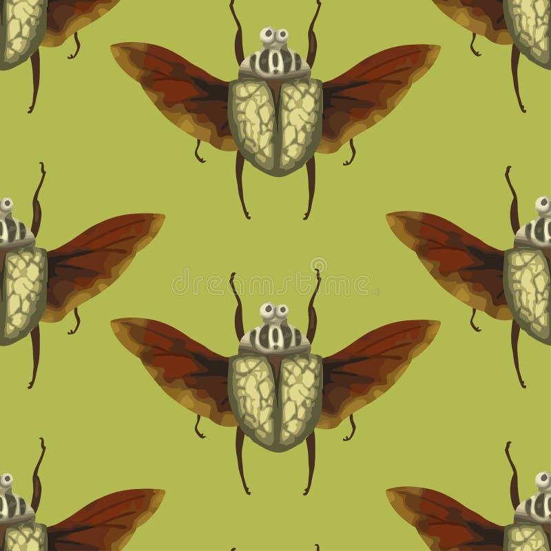 Ściga Hercules Insekt z skrzydłami ilustracja wektor