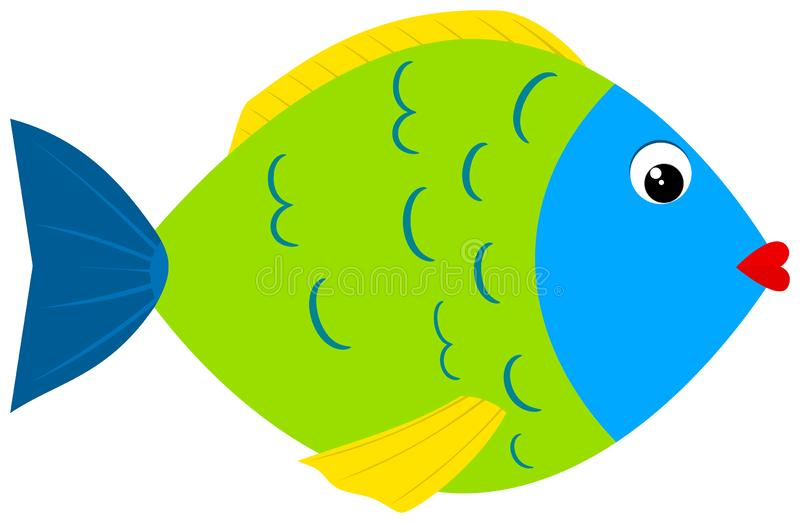 śliczna kreskówki ryba ilustracja wektor