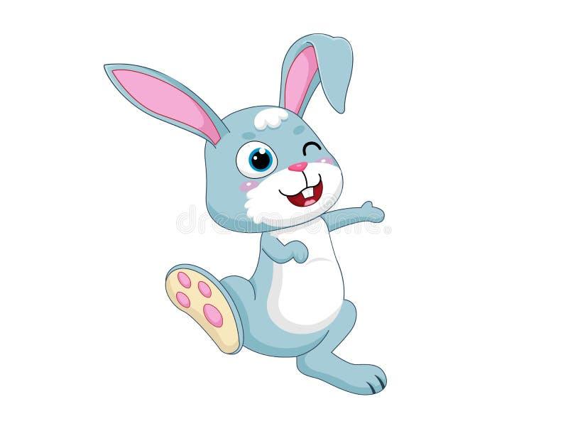 Śliczni kreskówka królika charaktery Wektorowy Ilustracyjny kreskówka styl pojedynczy białe tło ilustracja wektor