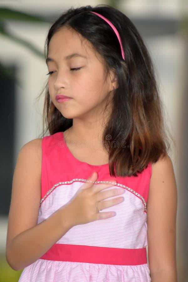 Śliczny Mniejszościowy dziewczyny dziecko, apatia I zdjęcia royalty free