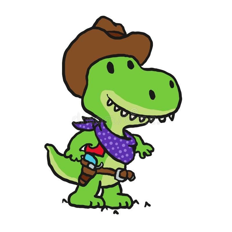 Śmieszna kowbojska szeryf kreskówka royalty ilustracja