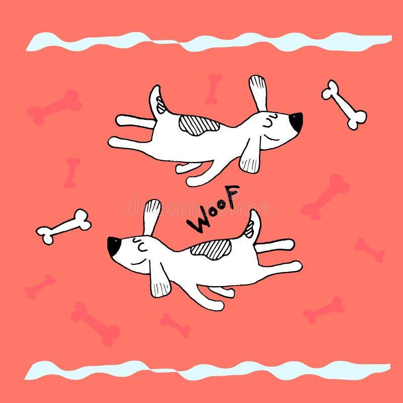 Śmieszny latający dosypianie pies, ręki doodle dziecięcy druk Doskonalić dla koszulki, odzież, karty, plakat, pepiniery dekoracja ilustracja wektor