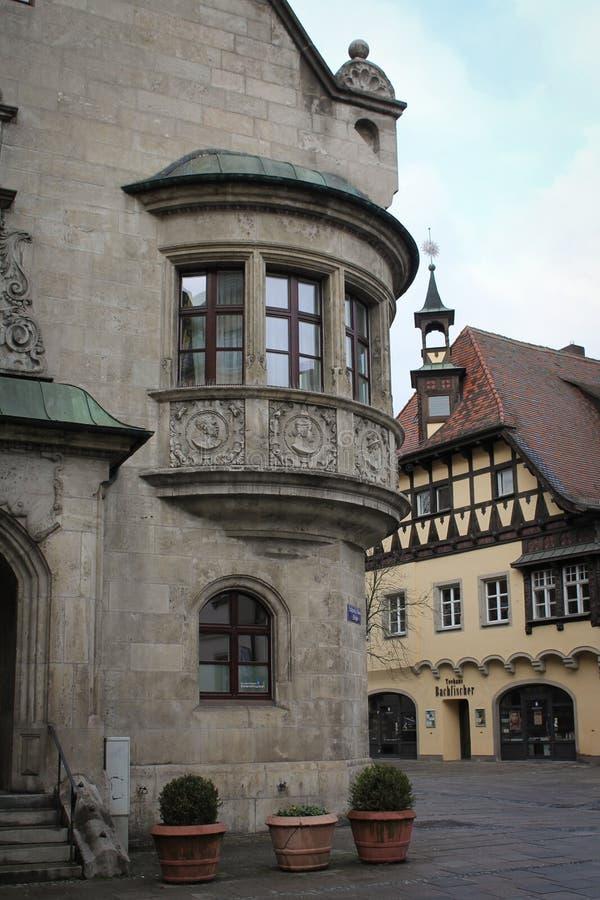 Średniowieczni Stylowi budynki w Regensburg, Niemcy obrazy stock