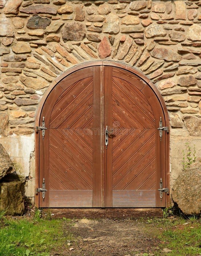 Średniowieczny grodowy drzwi obraz royalty free
