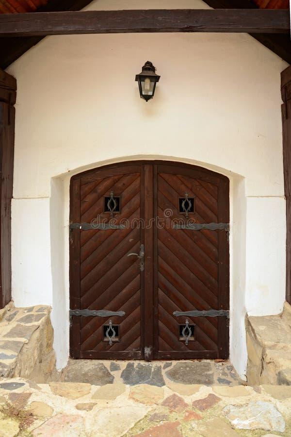 Średniowieczny grodowy drzwi zdjęcie stock