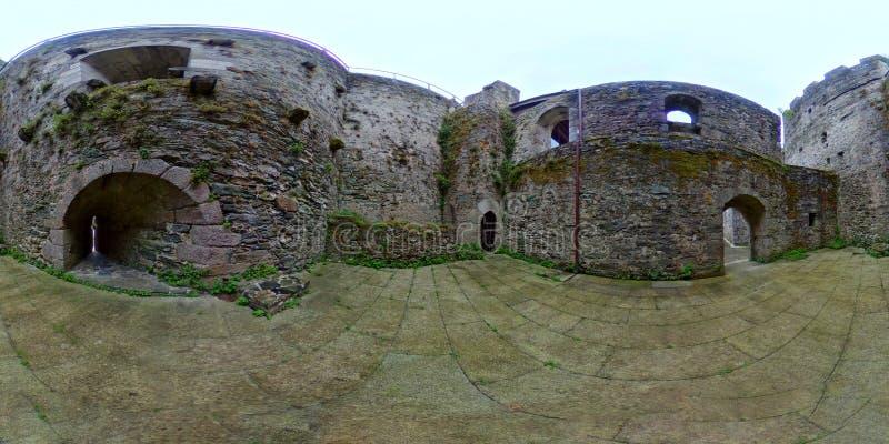 Średniowieczny kasztel Moeche Ferrol Galicia Hiszpania zdjęcie royalty free
