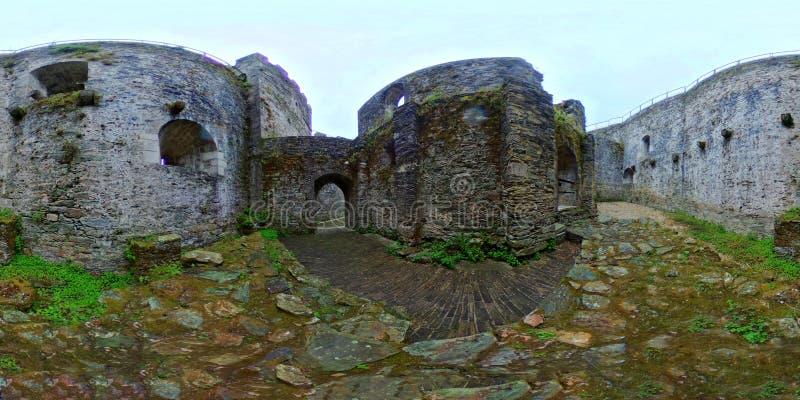Średniowieczny kasztel Moeche Ferrol Galicia Hiszpania obraz royalty free