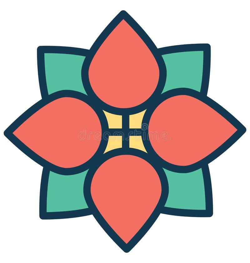 Środkowego kwiatu Wektorowa ikona która może łatwo zmodyfikowany lub redagować royalty ilustracja