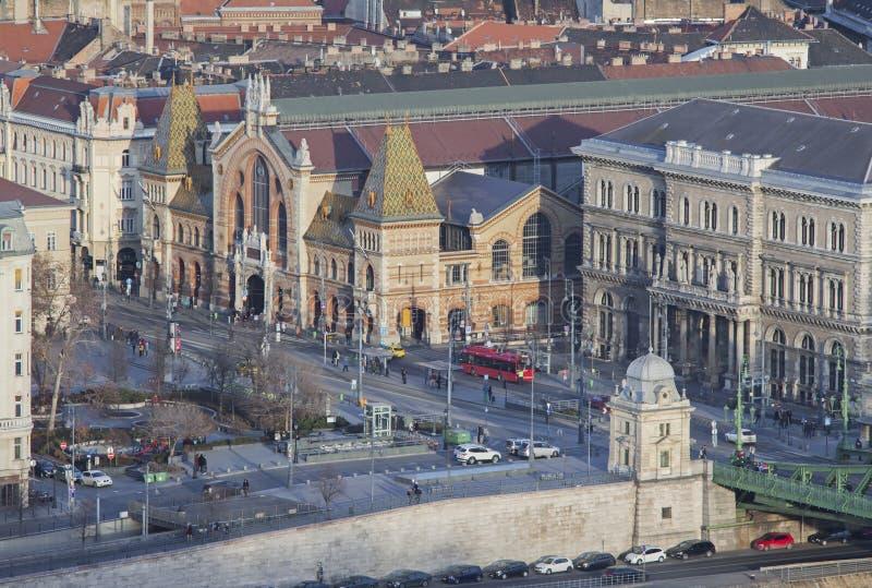 """Środkowy rynek Hall w Budapest †""""Luty 23, 2019 zdjęcia royalty free"""