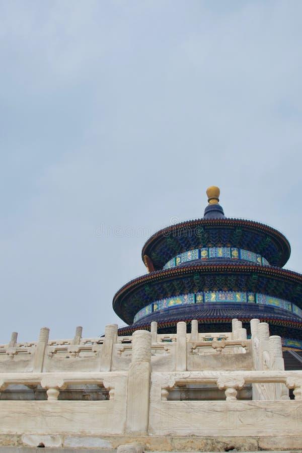 Świątynia niebo, Pekin, Chiny - błękitna świątynia, bielu marmur zdjęcia stock