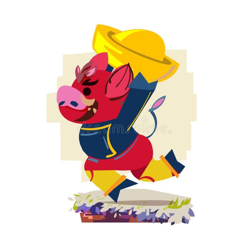 Świętuje rok świnia - wektor zdjęcie stock