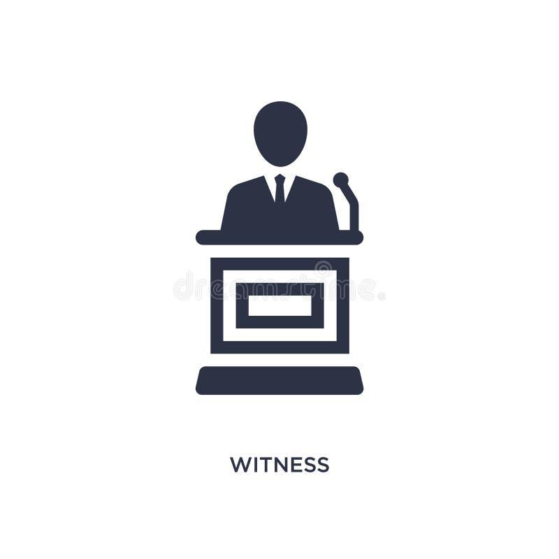 świadek ikona na białym tle Prosta element ilustracja od prawa i sprawiedliwości pojęcia ilustracja wektor