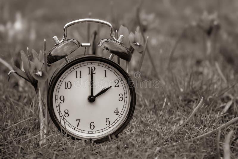 Światła dziennego oszczędzania czas Budzik wyłaczający lato czas fotografia stock