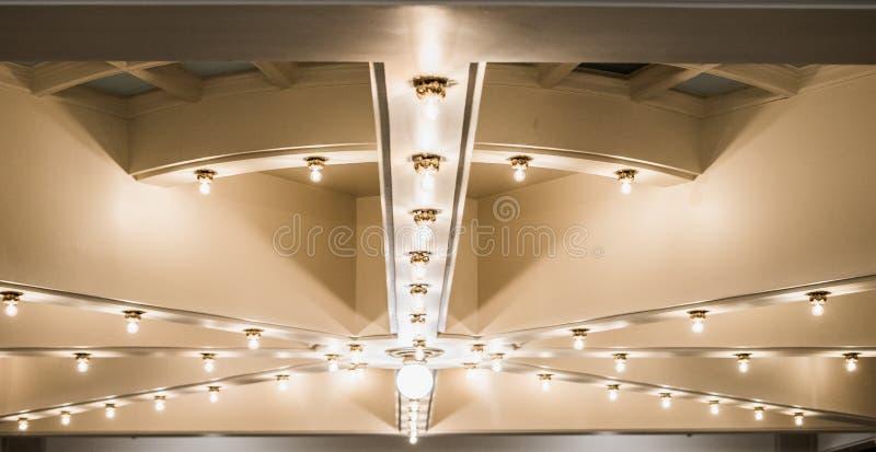 Światła na suficie przy Utah stanu capitol budynkiem obrazy royalty free