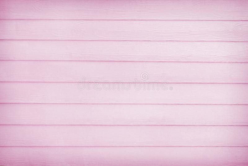 Światło - menchie opróżniają drewnianą deski ściany teksturę w horyzontalnych natura wzorach dla tła obraz royalty free