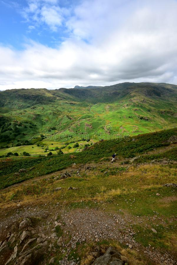 Światło słoneczne nad Easdale doliną fotografia royalty free