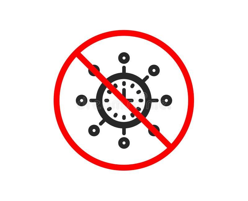 Światowa czas ikona Globalny zegarka znak wektor ilustracji