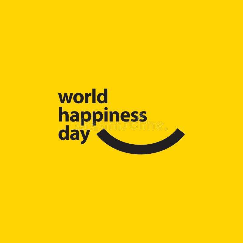 Światowego szczęście dnia szablonu projekta Wektorowa ilustracja ilustracji
