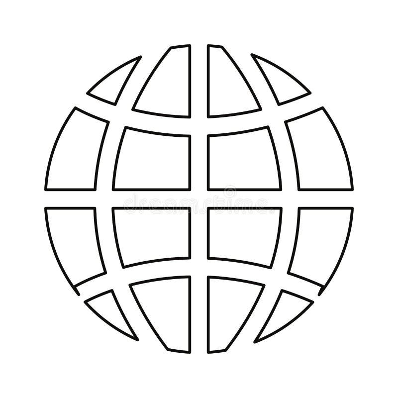 Światowy kula ziemska związek royalty ilustracja