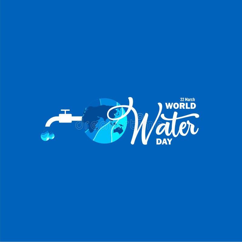 Światu Wodnego dnia szablonu projekta Wektorowa ilustracja ilustracja wektor