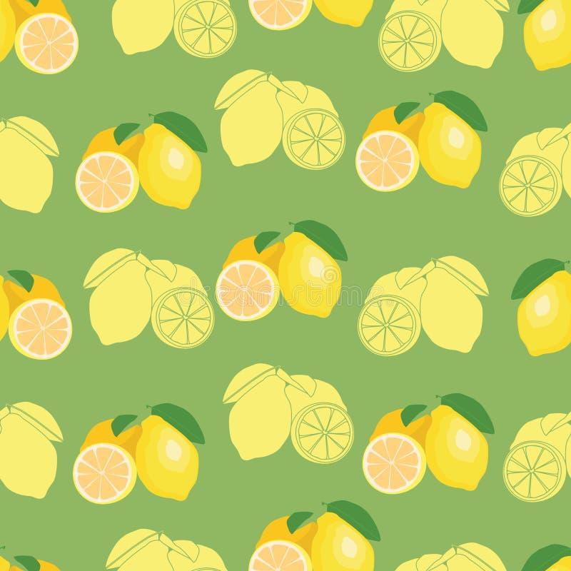 Świeża owoc powtarzający cytryna wzór ilustracji
