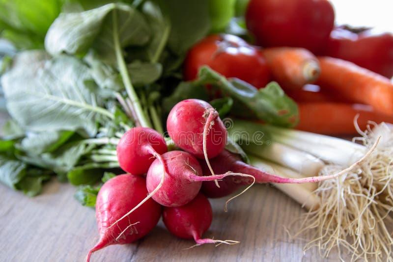 świeże organicznie rzodkwie zdjęcie stock