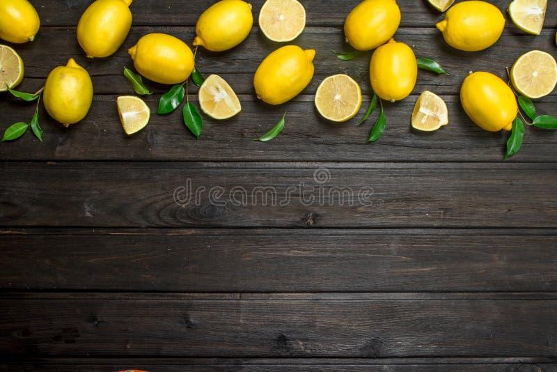 świeże soczyste cytryny obraz stock