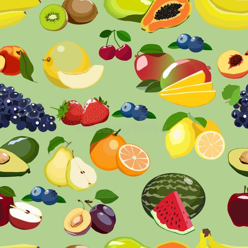 Świeżej owoc powtarzający wzór ilustracja wektor
