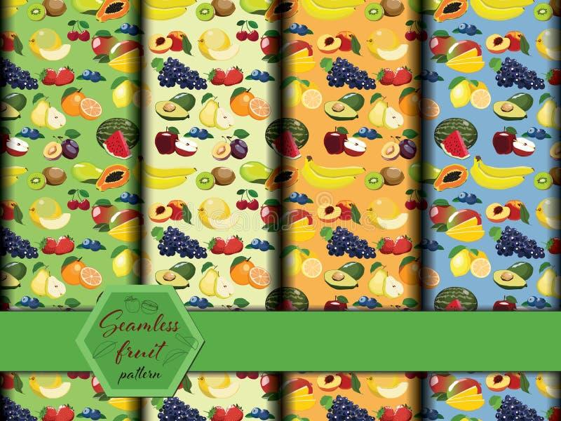 Świeżych owoc bezszwowy wzór ilustracji