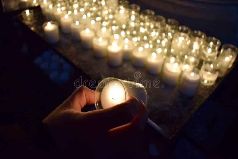 Świeczki W kościół zdjęcie stock