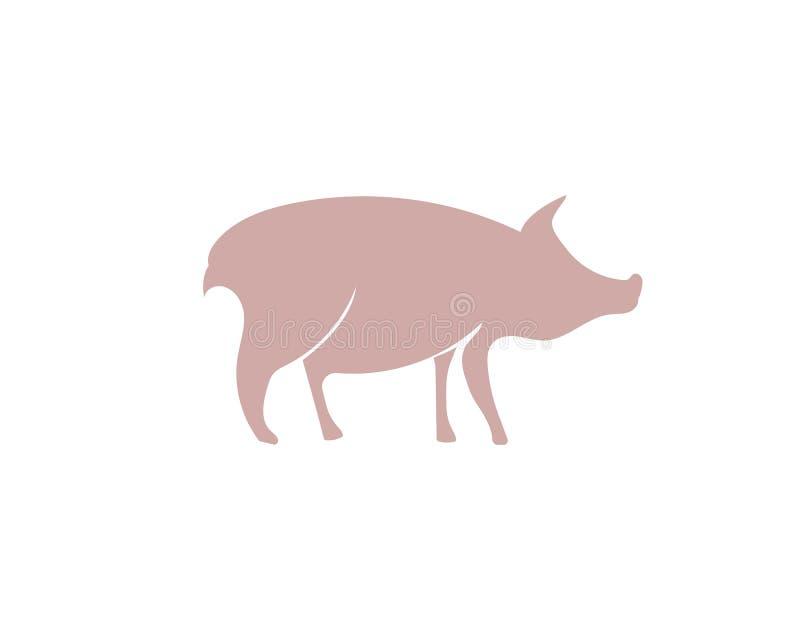 Świnia logo kierowniczy zwierzę royalty ilustracja