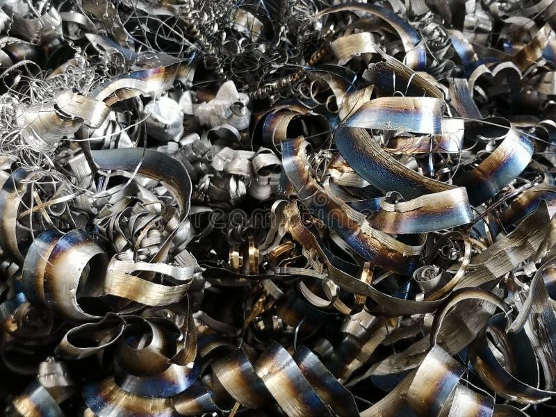 Świstek przetwarza metal teksturę dla przemysłu tła zdjęcie stock