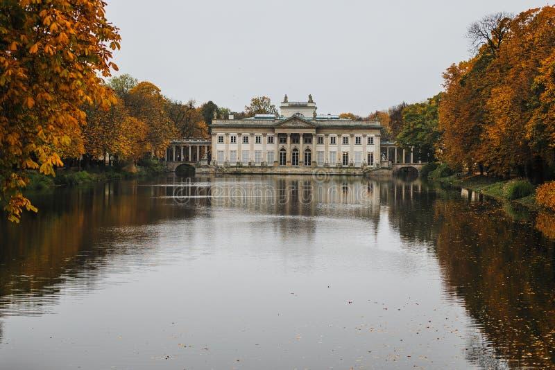 Å  azienki公园在华沙 波兰 图库摄影