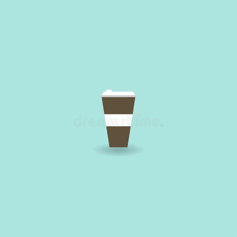 咖啡杯白色 象杯子 也corel凹道例证向量 10 eps 库存例证