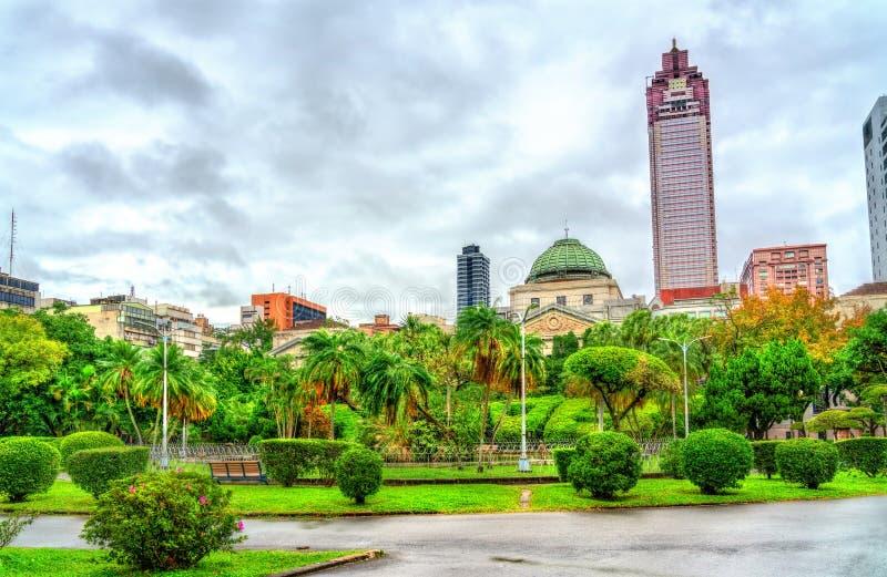 228和平纪念公园的国立台湾博物馆在台北 免版税库存图片