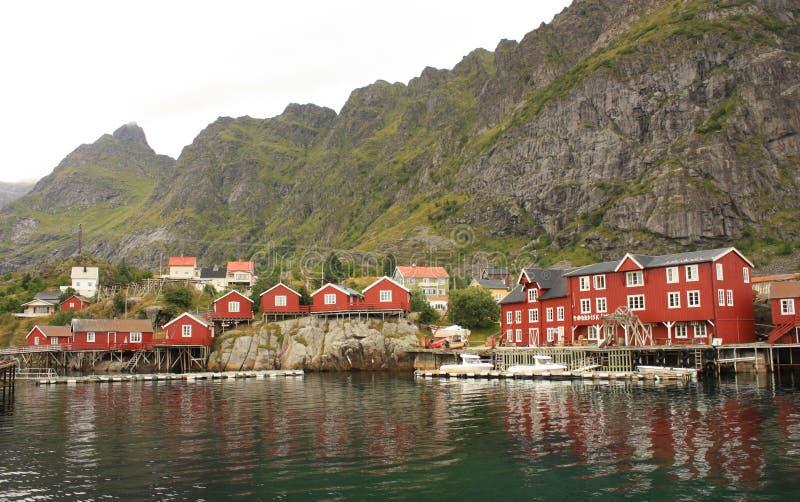 Ã… Village in Lofoten Islands in Norway stock image