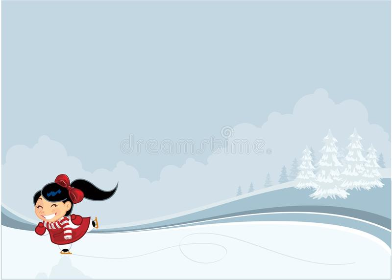 åka skridskor för flicka vektor illustrationer