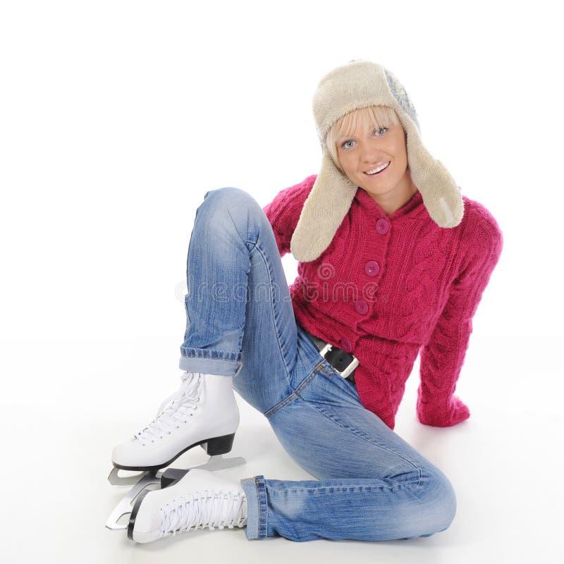åka skridskor för flicka arkivfoton
