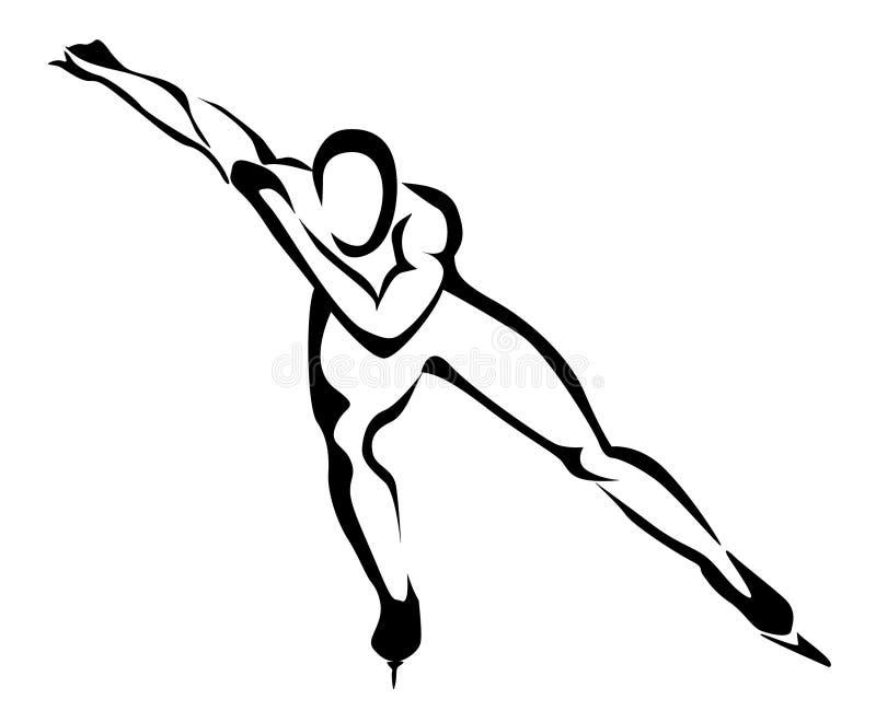 åka skridskor hastighetssymbol stock illustrationer