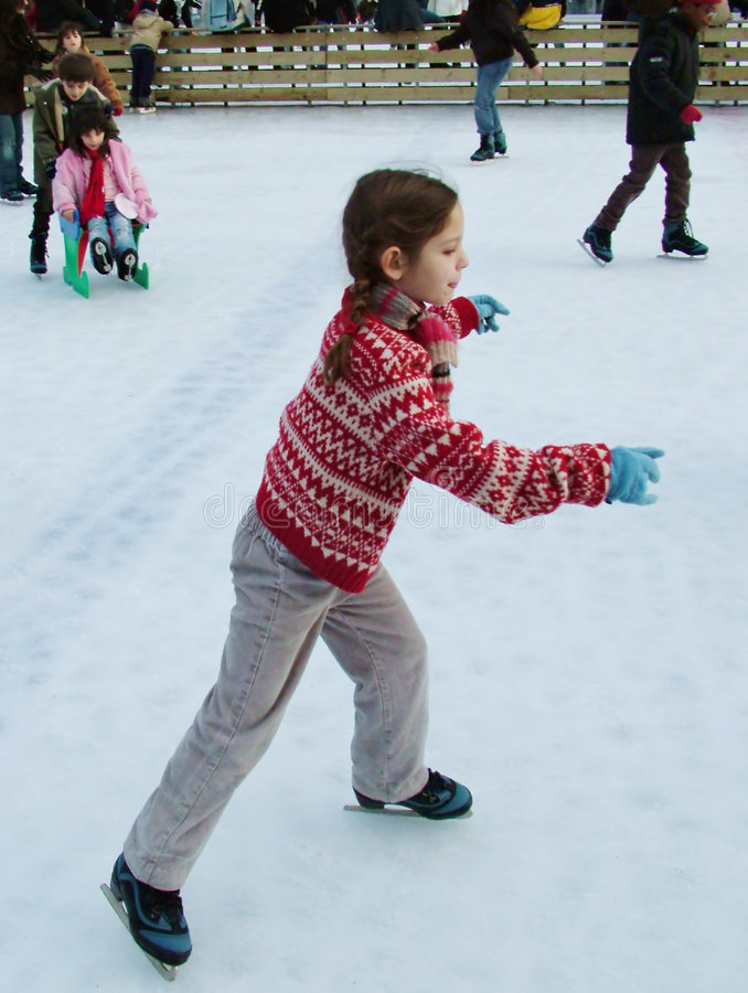 Åka skridskor isbana arkivfoton
