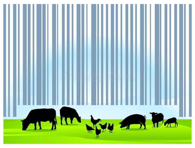 åkerbruk barcode royaltyfri illustrationer