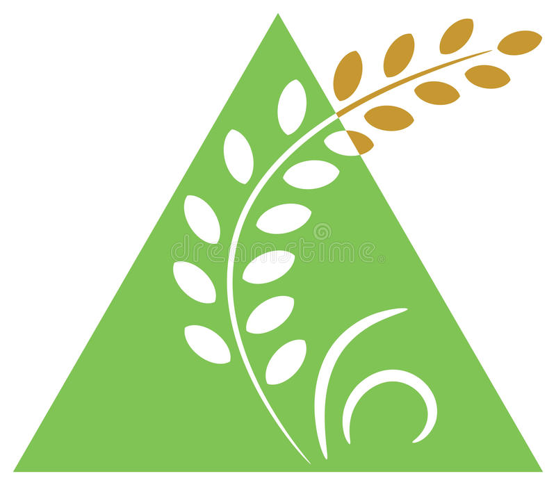 åkerbruk logo royaltyfri illustrationer