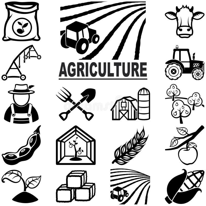 Åkerbruka symboler stock illustrationer