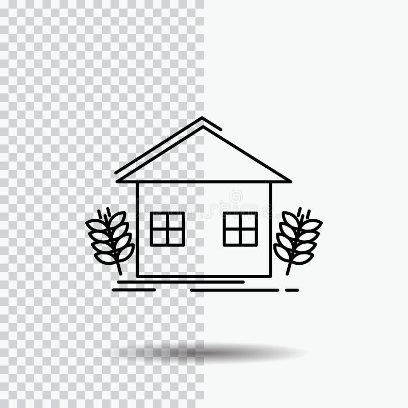 åkerbrukt stads-, ekologi, miljö som brukar linjen symbol på genomskinlig bakgrund Svart symbolsvektorillustration vektor illustrationer