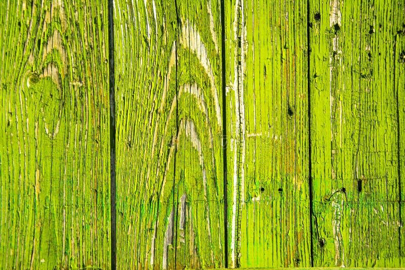 åldras träbakgrund av gröna bräden fotografering för bildbyråer