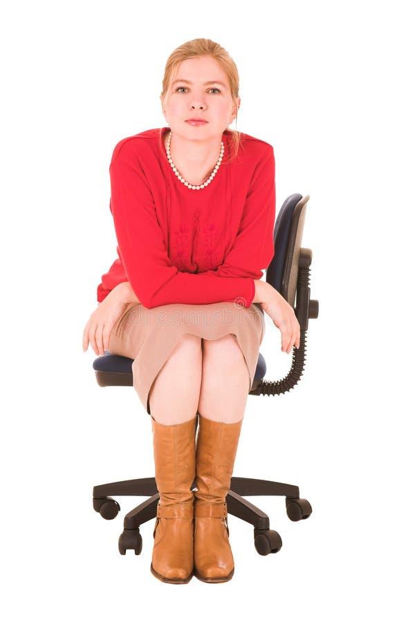 åldrig affärskvinnamitt royaltyfria foton